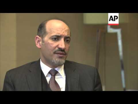 ONLY ON AP Interview with Ahmad al-Jarba, leader of Syrian National Coalition