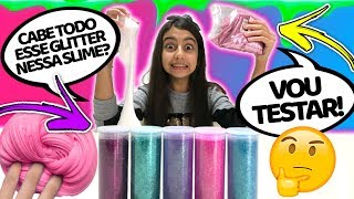 QUANTO DE INGREDIENTE A SLIME AGUENTA ? ( HOW MUCH CAN SLIME HOLD ) - Julia Moraes
