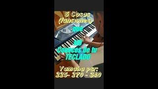5 COSAS (funciones) que NO sabes USAR😲🤤😲 de tu teclado yamaha psr 225 - 270  - 340