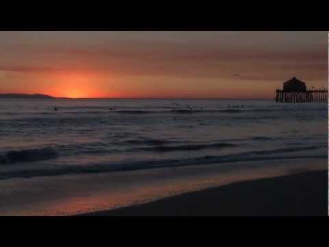 "Huntington Beach, California ""Ocean Waves Crashing ""Relaxation Meditation"""