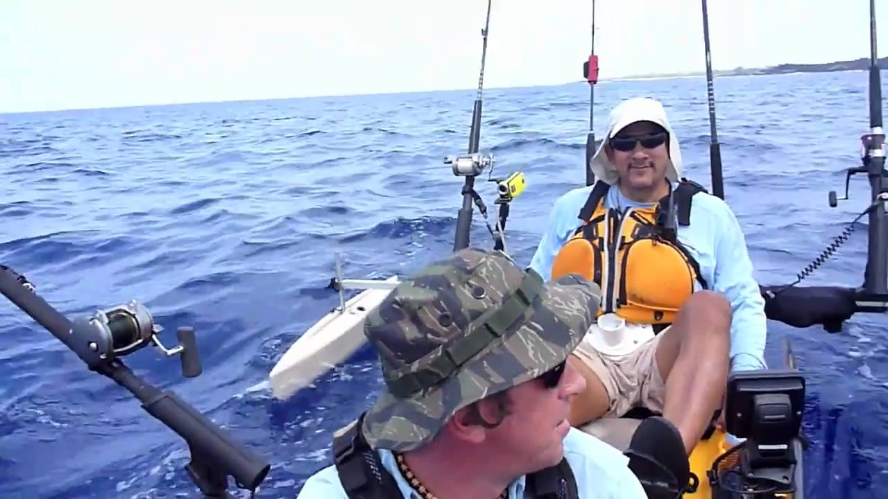 Hawaii tsunami warning hobie tandem kayak fishing youtube for Kayak fishing hawaii