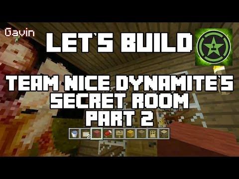 Lets Play Tuesdays - Lets Play Tuesdays - Let's Build in Minecraft - Team Nice Dynamite's Secret Room Part 2