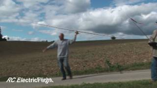 Short rc glider flight testing Maxima
