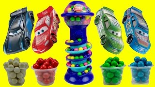 Cars 3 Toy Characters Collect Bubble Gumballs ~ BEST to Learn Colors & Numbers