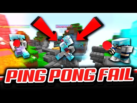PING PONG FAIL (Minecraft Skywars)