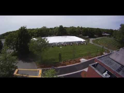 Time lapse of the Commencement Tent setup at Bristol Community College