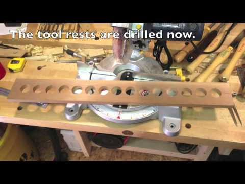 Woodworking a Lathe Tool Rack