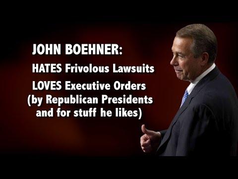 John Boehner's Frivolous, Hypocritical Lawsuit: An Explainer