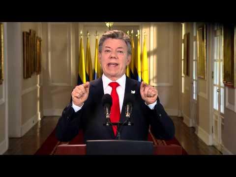 Alocución del Presidente Juan Manuel Santos al inicio del año 2015 - 14 de enero de 2015