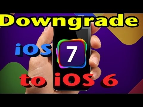 HOW TO: DOWNGRADE iOS 7 to iOS 6 | go back to iOS 6.1.3