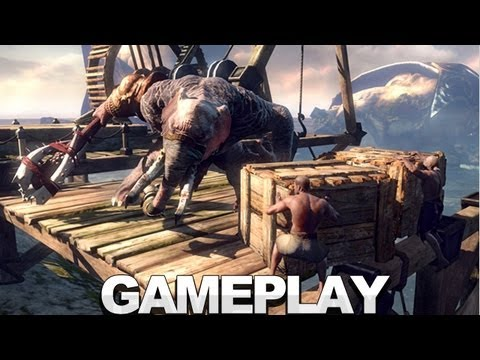 God of War Ascension Head Bashing Gameplay - E3 2012