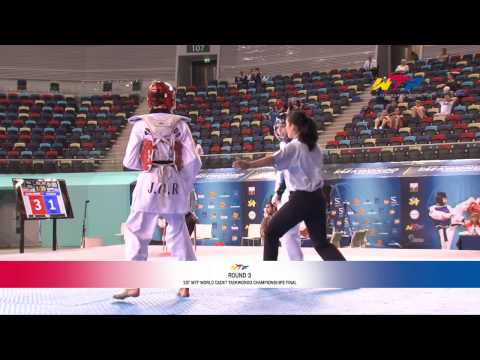 [male -45kg] 1st Wtf World Cadet Taekwondo Championships Final video