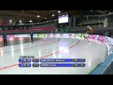 Martina Sáblíková & Eriko Ishino 5000m, Hamar 2010