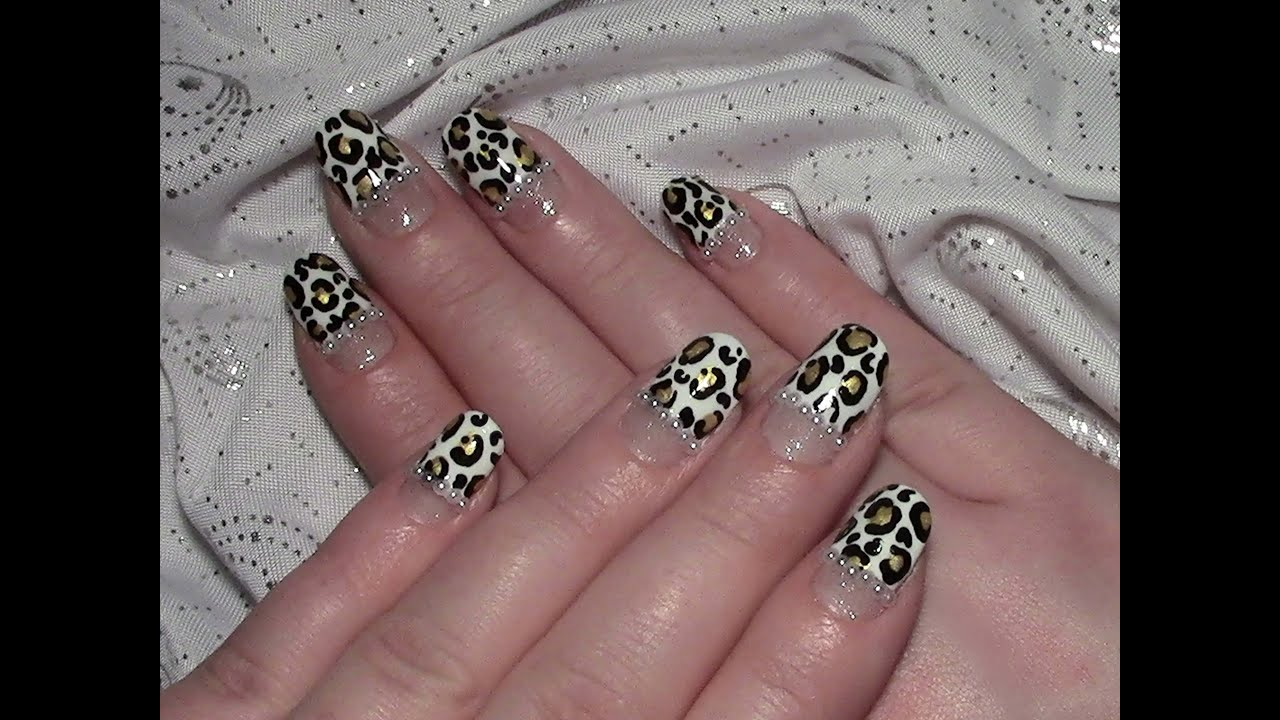 Leoparden nageldesign f r kurze n gel selber machen - Nageldesign selber machen ...