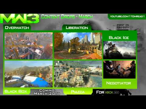 MW3 - DLC Content Collection Details - March Map Packs / Drops & OFFICIAL DATES - BLACKBOX