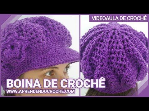 Boina de Croche Burguesinha - Aprendendo Crochê