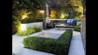 Diseño de jardines modernos. HD-3D. Arte y Jardinería Diseño de Jardines.