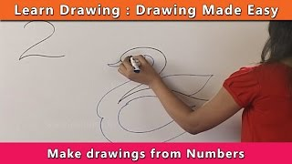 How to draw using Numbers | Learn Drawing For Kids | Learn Drawing Step By Step For Children