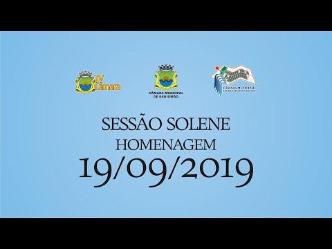 SESSÃO SOLENE 19/09/2019