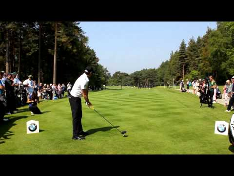Rory McIlroy rips driver at Wentworth
