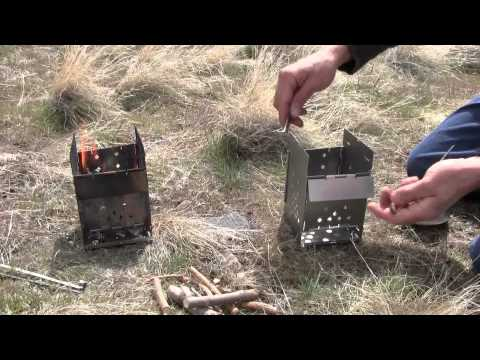 Best Folding Camp / Emergency Prepper Stove FIREBOX