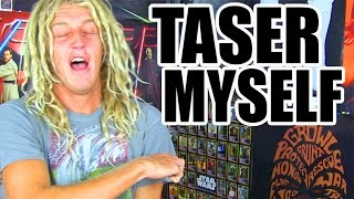 TRY TO WATCH THIS WITHOUT LAUGHING OR GRINNING! TAZER EDITION!!! Reaction