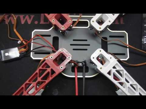 DJI Flamewheel F450 ARF w/ Naza-M GPS --- Quadcopter BUILD Video (Dubstep)