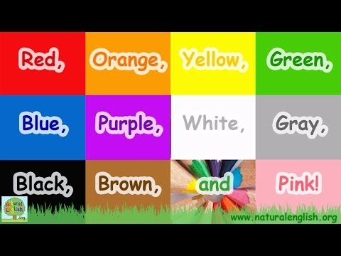 The Colors Song ~ Learn the Colors / Colours ~ Simple Learning for Children ~ by Natural English #1