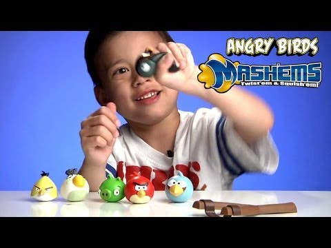 Angry Birds Mash Ems, Splat Balls, Splat Catch, and Splat Target Zone!