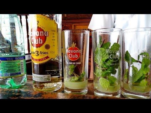 Preparación del auténtico Mojito Cubano - Ron Havana Club 3 años