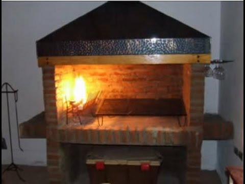 Parrilla de ladrillos r stica youtube - Construccion de chimeneas de ladrillo ...
