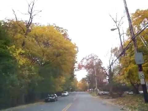 Driving through Greenburgh, NY in the fall