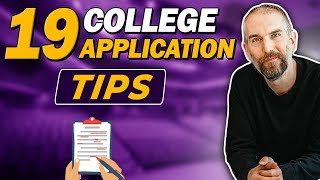 19 College Application Tips