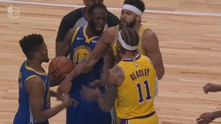 Michael Beasley, Lance Stephenson Ejected Lakers vs Warriors Preseason! 2018 NBA