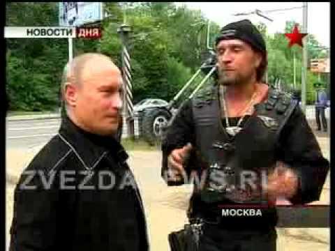 Путин посетил байкеров, едущих в Севастополь
