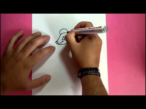 Como dibujar un raton paso a paso 9 How to draw a mouse 9