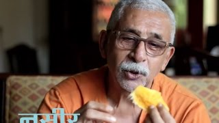 Naseeruddin Shah informal on Gulzar's Mirza Ghalib in Urdu Studio with Manish Gupta