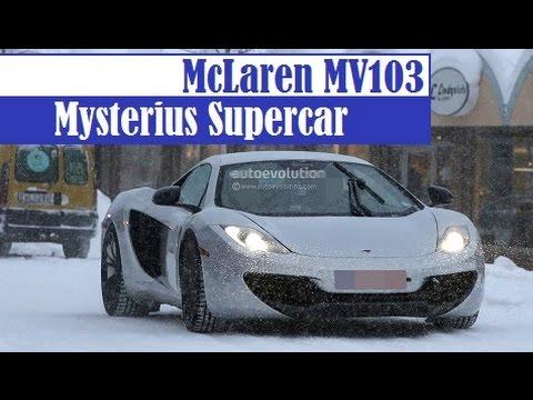 McLaren MV103, mystery supercar spied on snowing road in Scandinavia