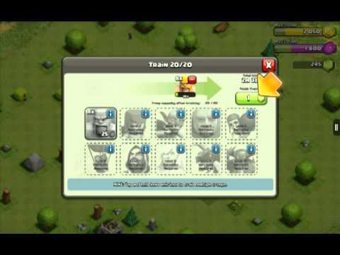 Lets Play Clash of Clans Ep. 1: Tutorial