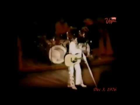 Elvis Presley : December 3, 1976, still rockin; in Las Vegas