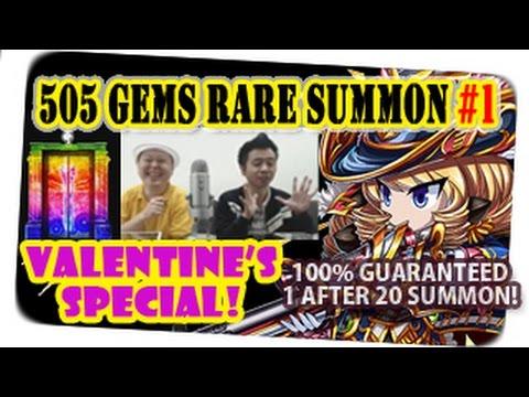 Valentine Special! 505 Gems Rare Summon For Ravenna & Randolph (Brave Frontier Global) With Milko #1