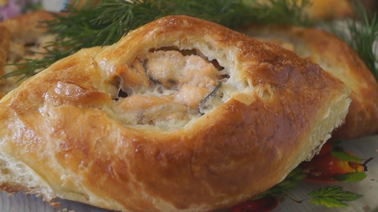Пирожки с рыбной начинкой рецепт пошагово