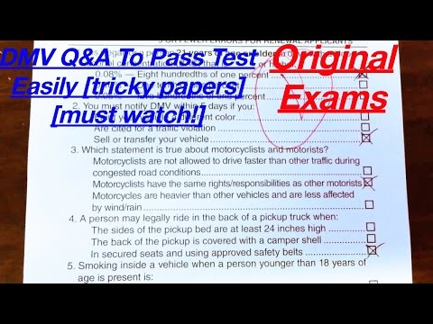 How Many Questions Are On The Permit Test >> Driver Test Questions Permit - instruction-smash