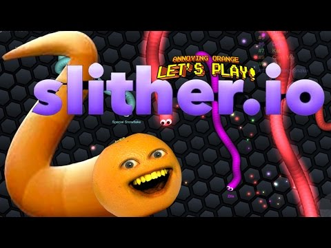 Annoying Orange Plays - SLITHER.IO: #1 BIGGEST SNAKE!!!