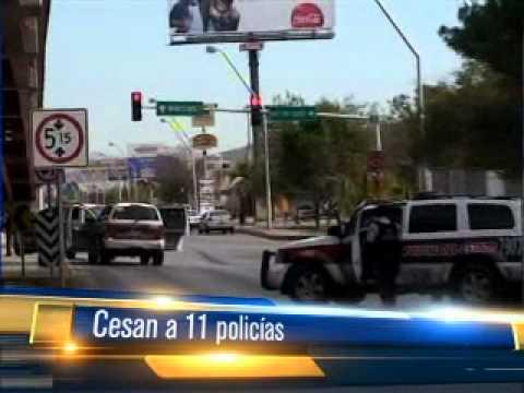 Dan de baja a policías por reprobar examen de confianza. 03 Sept. 12. Telediario Saltillo