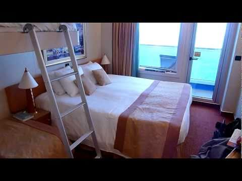 Carnival Splendor Outside Stateroom 8443 Tour - 4 Person Quad Setup. plus TIPS!