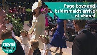 Prince George and Princess Charlotte among page boys and bridesmaids