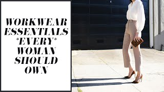 Workwear Essentials *EVERY* Woman Should Own (Work Wardrobe Basics 101) | Mademoiselle