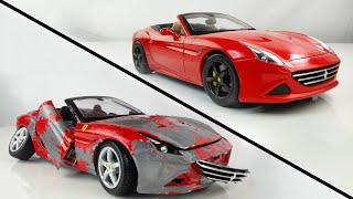 Restoration Damaged Ferrari - Old Model Supercar Restoration California T Model Car