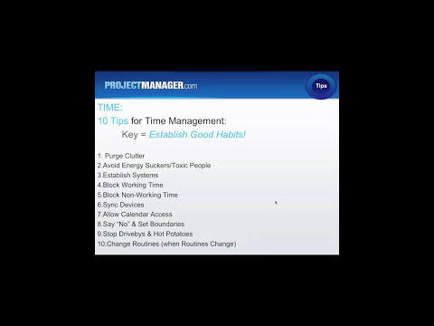 Managing Time: 1 hour Free Project Management Training